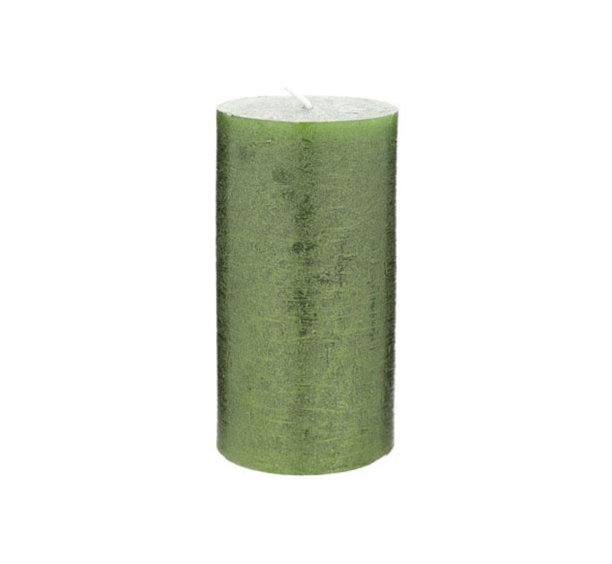 Cosy & Trendy Rustic cylinderkaars met. smaragdgroen, 1 stuk