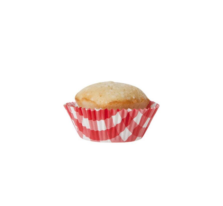 Cosy & Trendy Bakvormpje s60 rood wit picnic, 60 stuks
