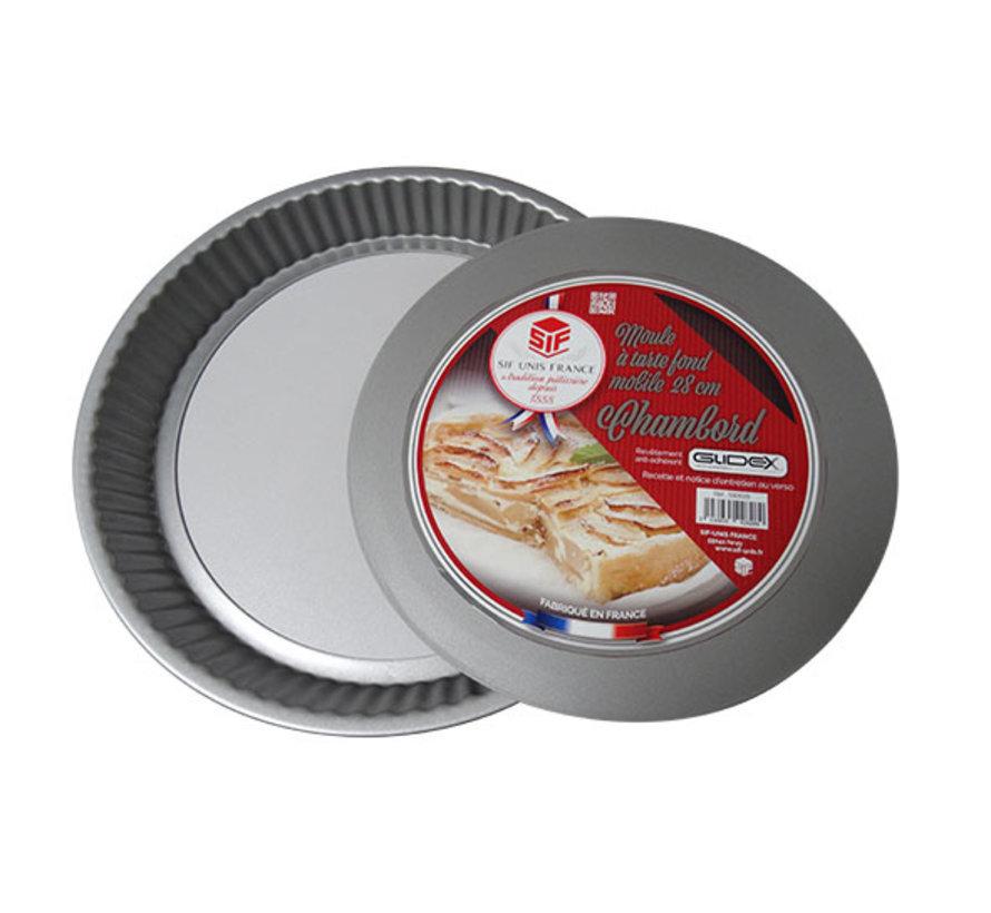 Chambord taartvorm losse bodem diameter 28cm, 1 stuk