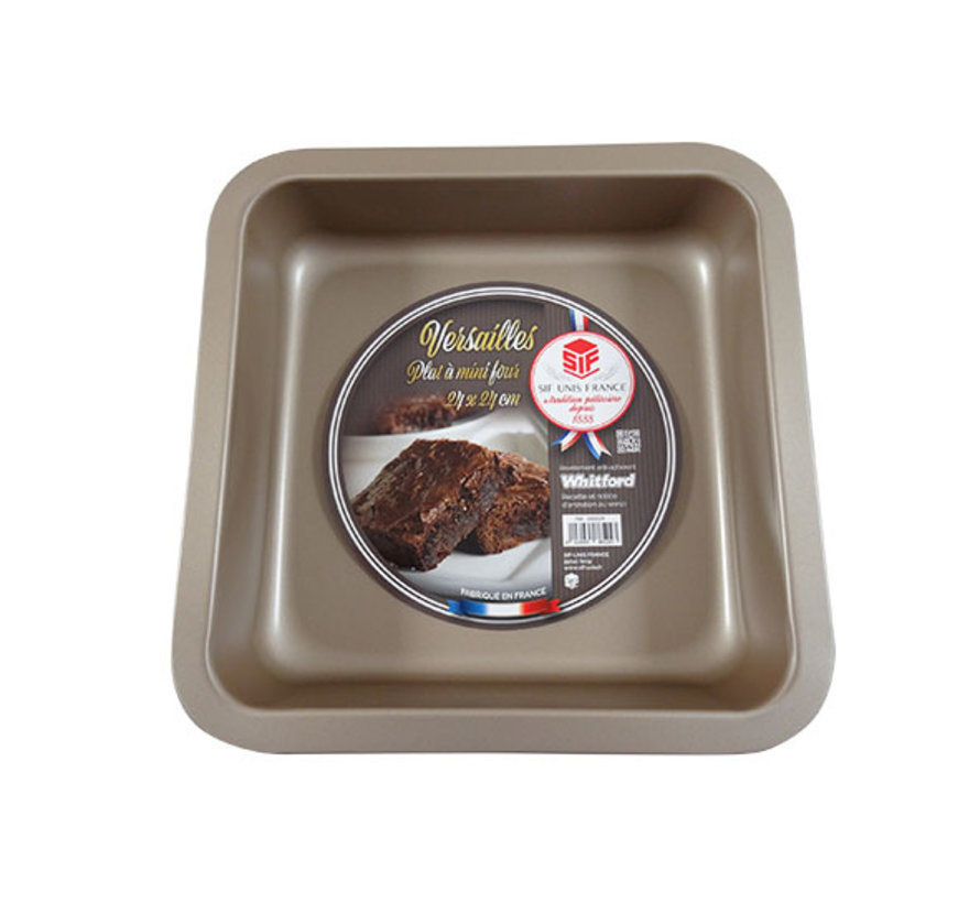Versailles ovenschotel 24x24cm bruin, 1 stuk