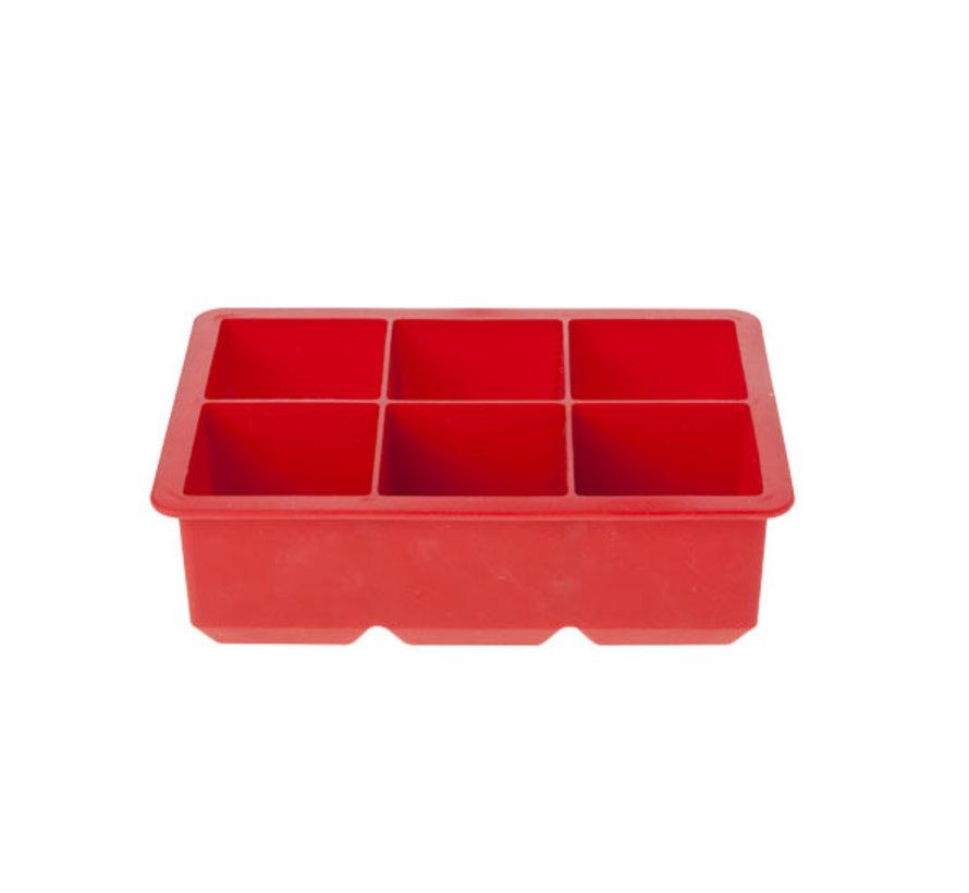 Cosy & Trendy Ijsblokhouder kubus rood 6st 16x11x5, 1 stuk