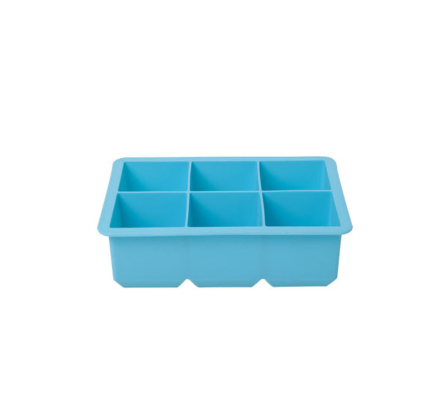 Cosy & Trendy Ijsblokhouder kubus blauw 6st 16x11x5, 1 stuk
