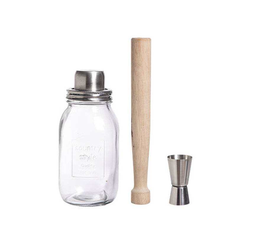 Cosy & Trendy Country style cocktail, set 3-delig