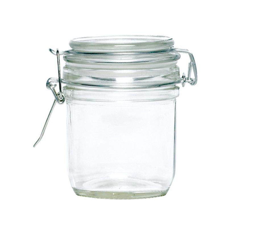 Cosy & Trendy Pot met clip 15cl d6xh9cm rond glas, 1 stuk