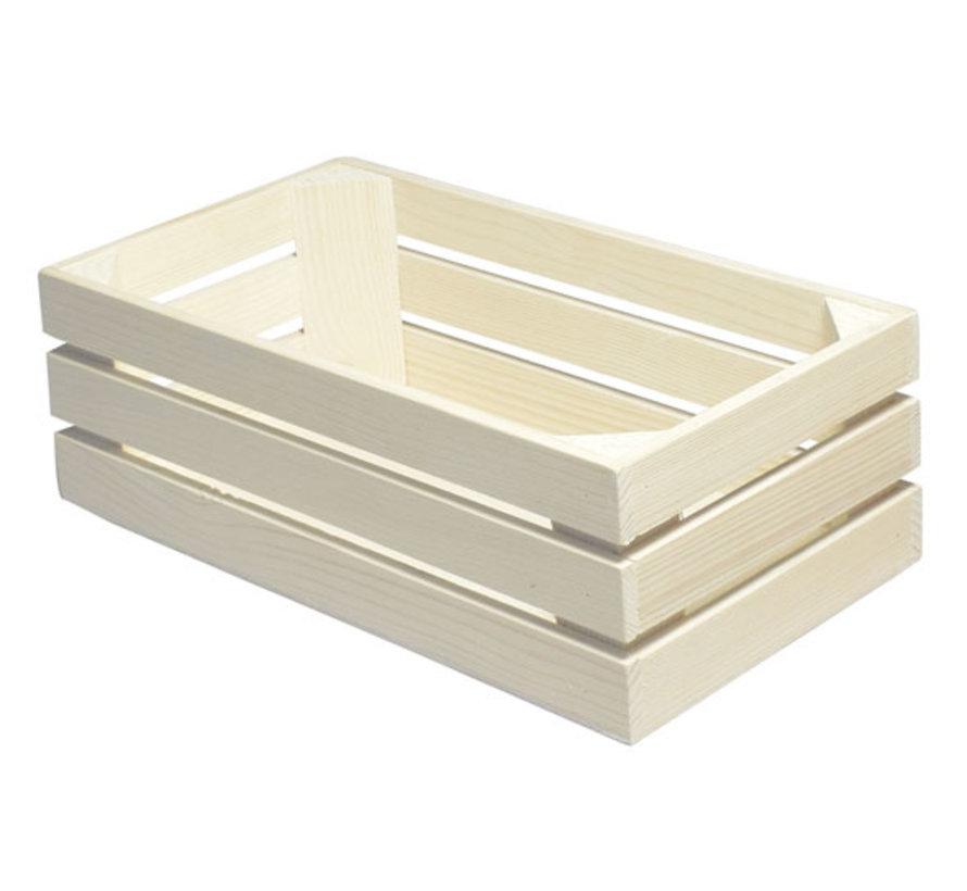 Bisetti Gastronormbak 1-3 hout naturel 32x17,1xh10,5cm, 1 stuk