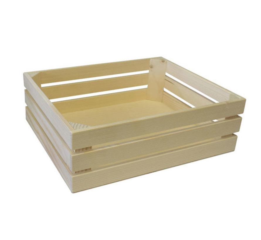 Bisetti Gastronormbak 1-2 hout naturel 32x26xh10,5cm, 1 stuk