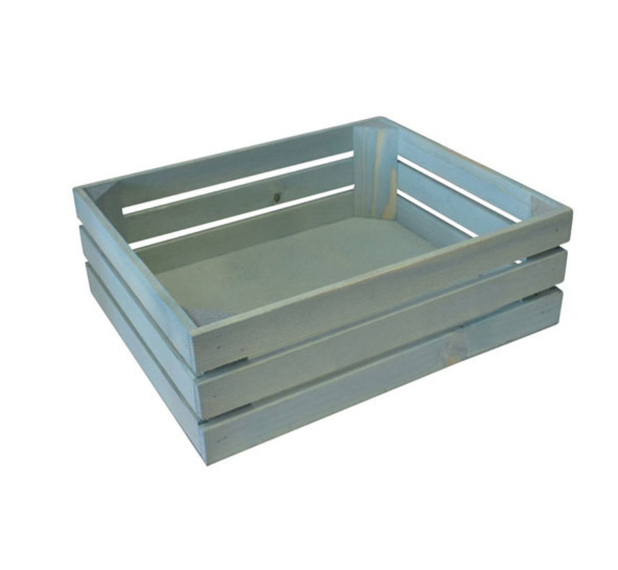 Bisetti Gastronormbak 1-2 hout blauw 32x26xh10,5cm, 1 stuk