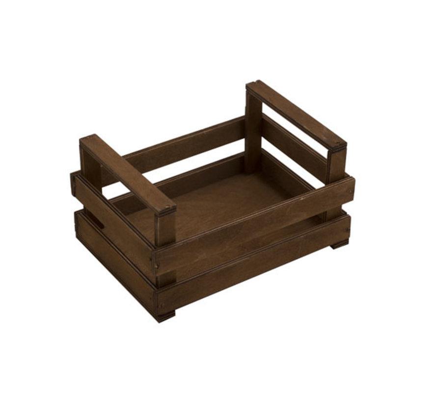 Bisetti Krat bruin houten box s 20x14x10cm, 1 stuk