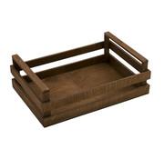 Overige merken Bisetti Krat bruin houten box m 25x18x10cm, 1 stuk