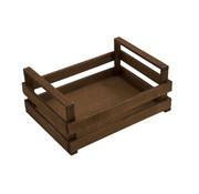 Overige merken Bisetti Krat bruin houten box l 30x20x10cm, 1 stuk