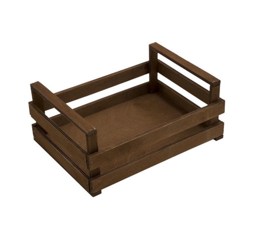 Bisetti Krat bruin houten box l 30x20x10cm, 1 stuk