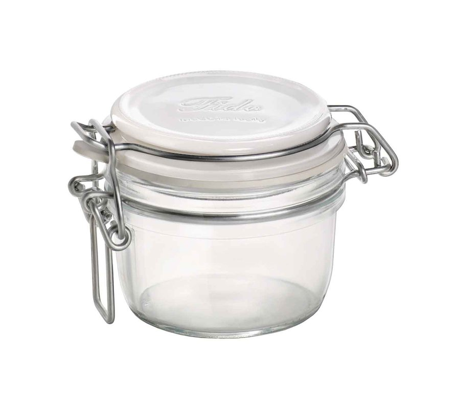 Bormioli Fido inmaakbokaal 125ml wit deksel, 1 stuk