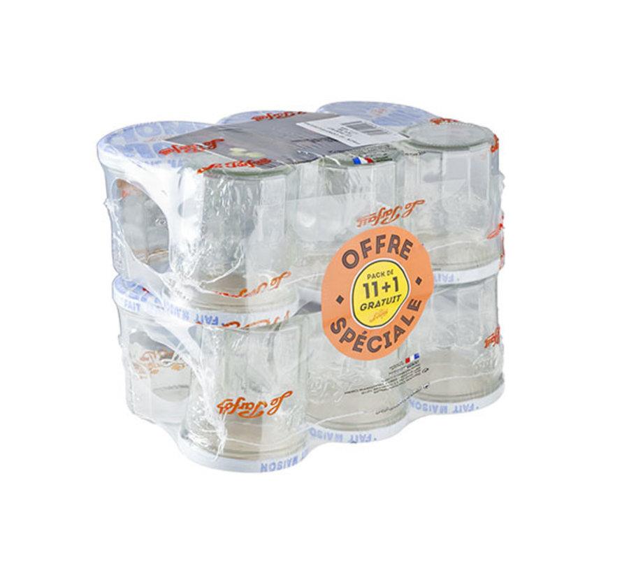 Le Parfait Confituurpot 324 ml, 12 stuks