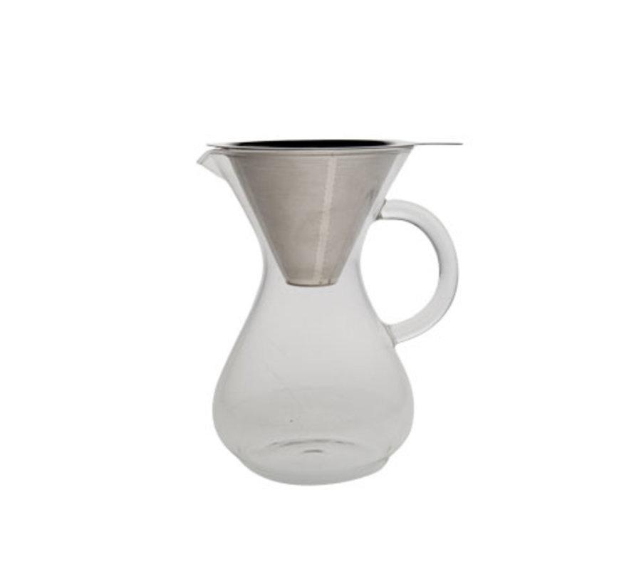 Cosy & Trendy Koffiekan glas - filter rvs - medium 500, 1 stuk