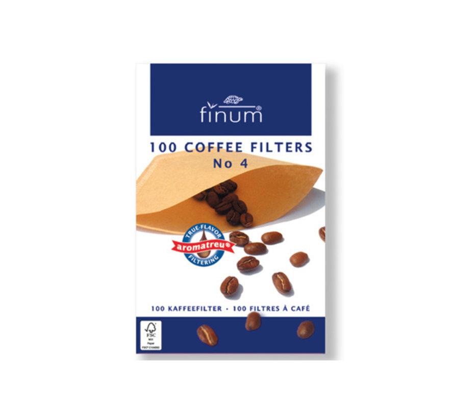 Finum Koffiefilters s100 nr4, 100 stuks