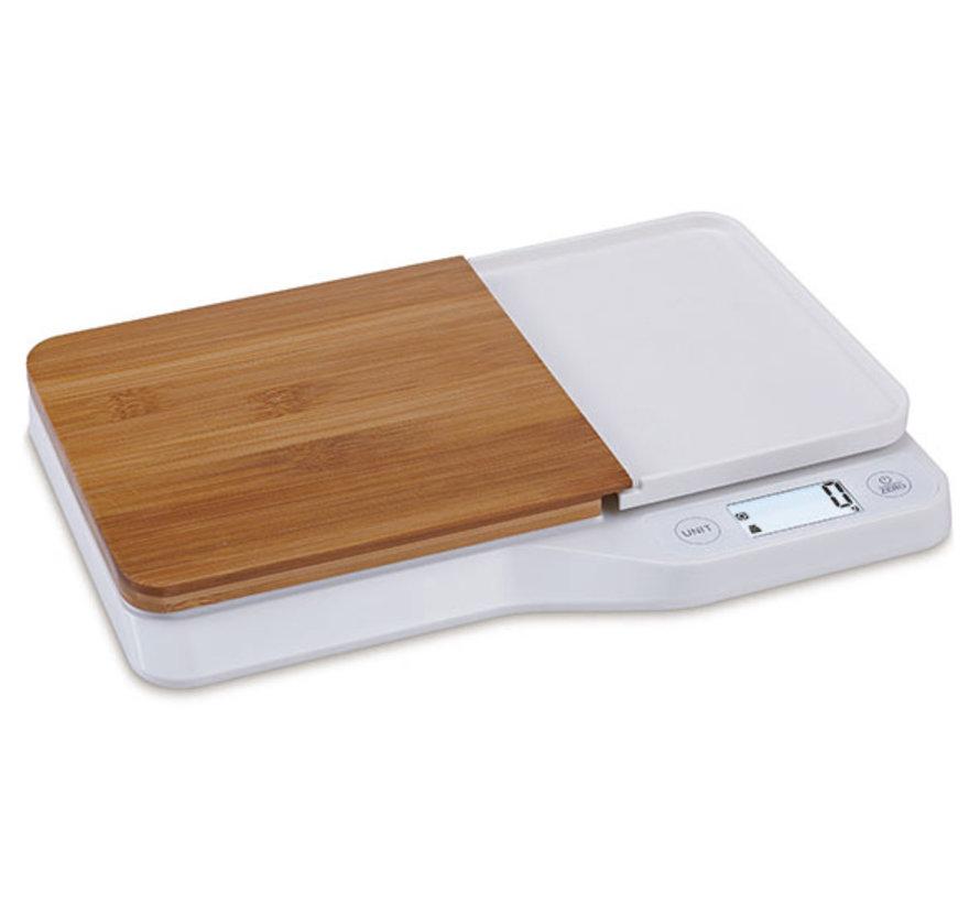 Cosy & Trendy Keukenweegschaal elektr hout 5kg, 1 stuk