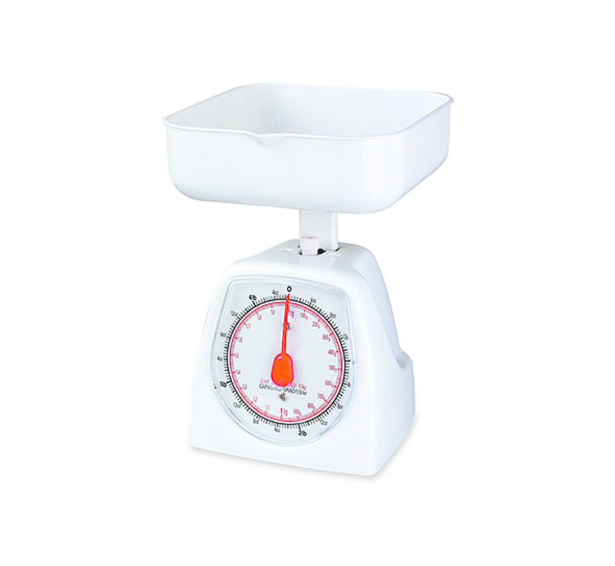 Cosy & Trendy Mechanisch keukenweegschaal cap 1kg, 1 stuk