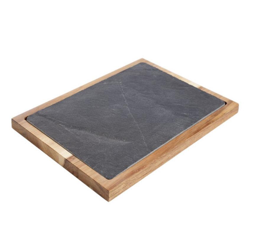 Cosy & Trendy Acacia-leisteen plank 35x25xh2,5cm, 1 stuk