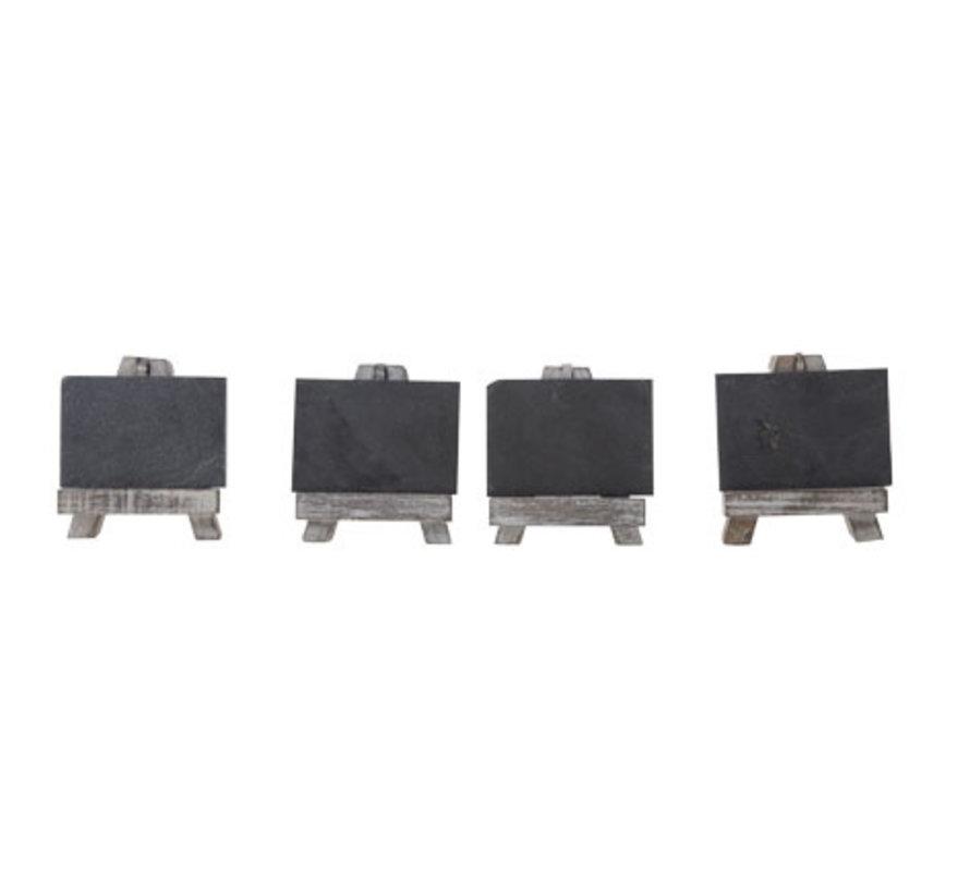 Cosy & Trendy S4 mini houders en leisteen 11,5x32xh3cm, 4 stuks