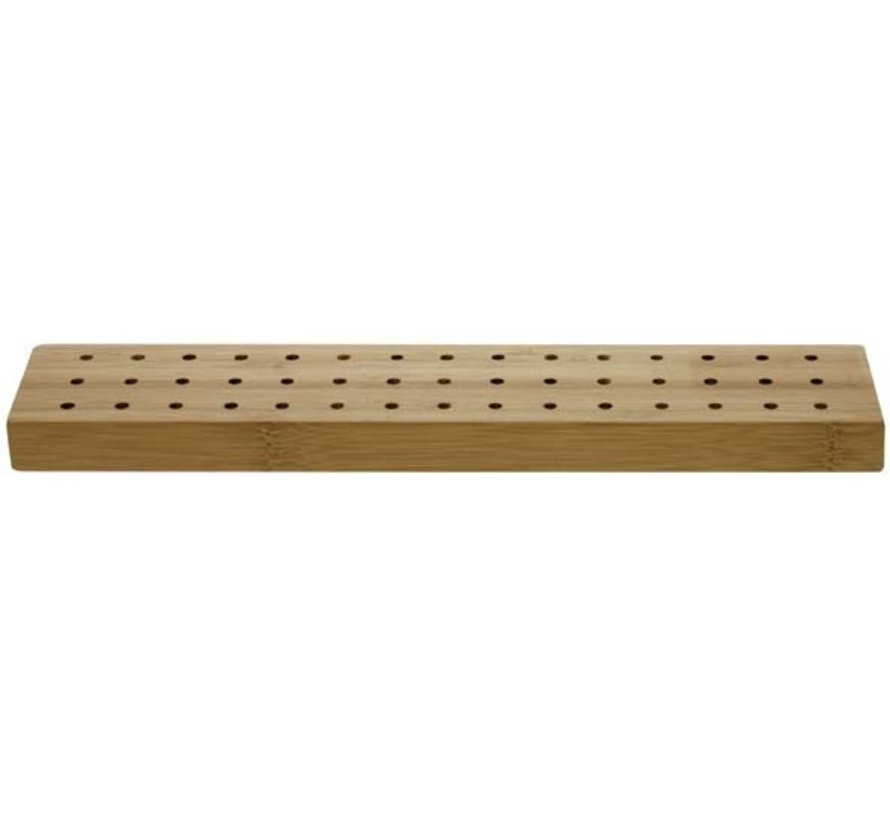 Stick It Vcc Plank met 45 gaatjes 32,5x6xh2cm bamboo, 1 stuk