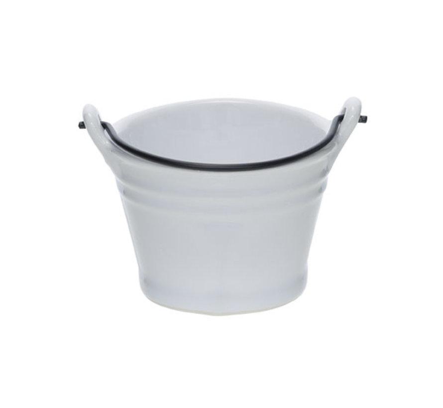 Cosy & Trendy Bucket witte mini emmer d7,8xh5,5cm, 1 stuk