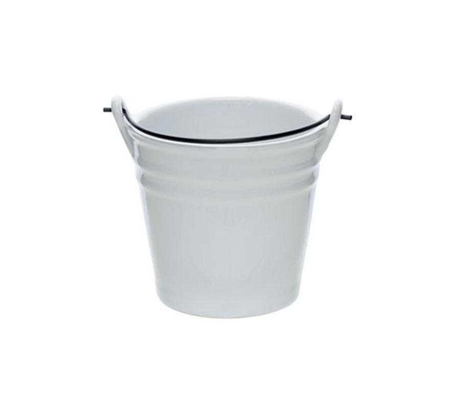 Cosy & Trendy Bucket witte mini emmer d8,5xh8,5cm, 1 stuk