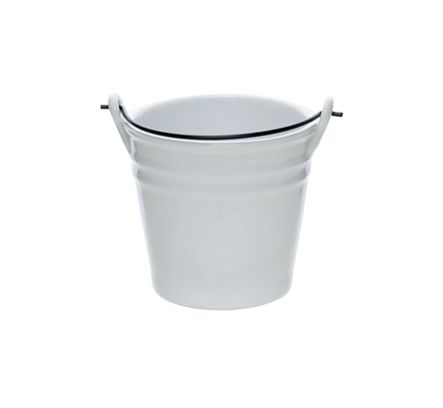 Cosy & Trendy Bucket witte mini emmer d10,3xh9,7cm, 1 stuk