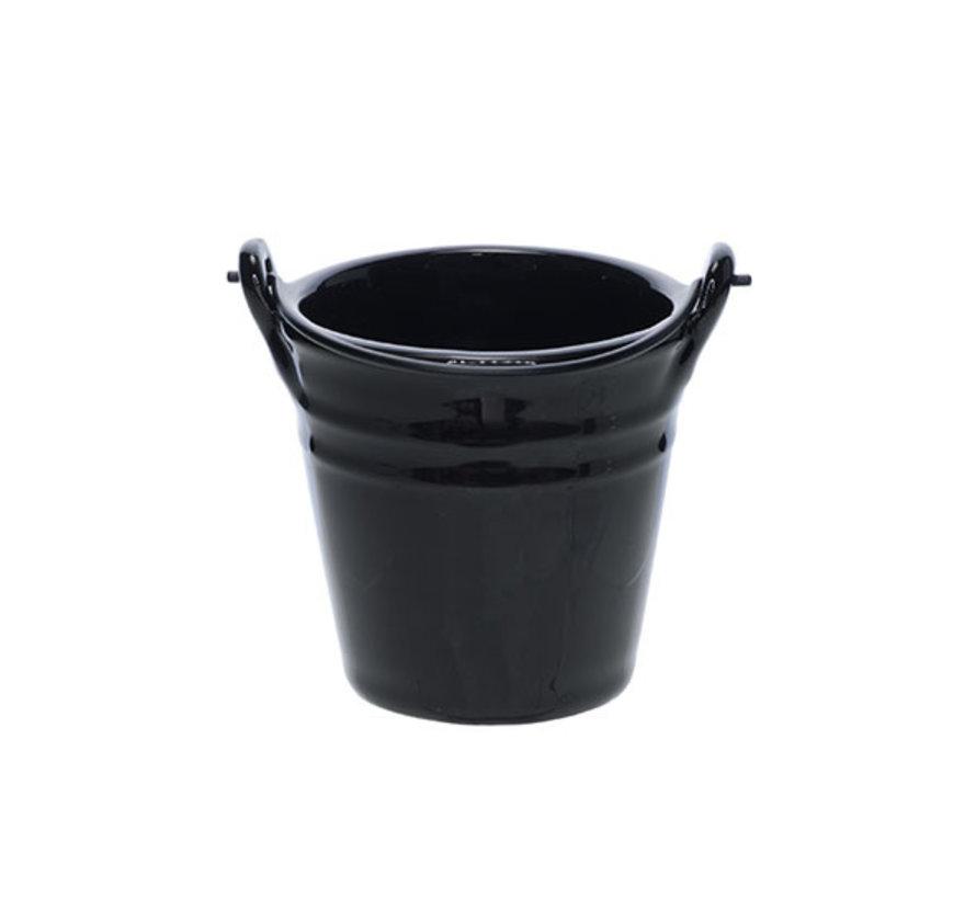 Cosy & Trendy Bucket black mini emmer d8,5xh8,5cm, 1 stuk