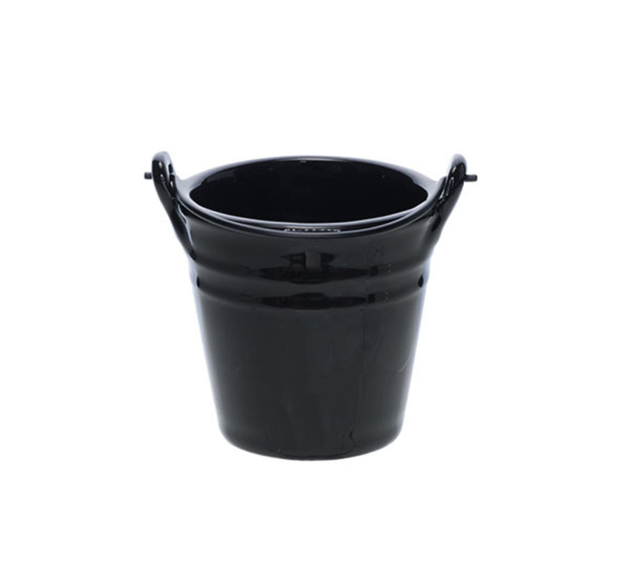 Cosy & Trendy Bucket black mini emmer d10,3xh9,7cm, 1 stuk