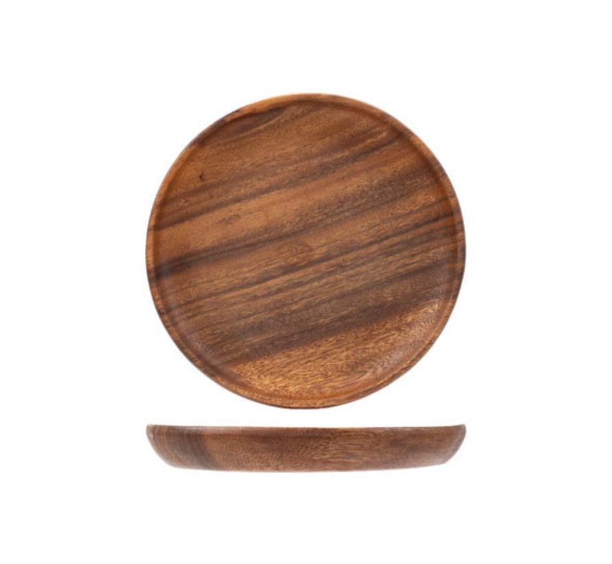 Cosy & Trendy Acacia houten schaaltje rond 20x2,5cm, 1 stuk