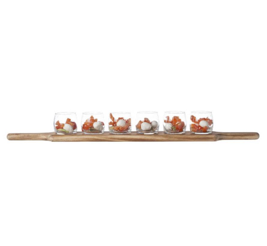 Cosy & Trendy Aperoset 6 glazen 1 houten plankje, 1 stuk