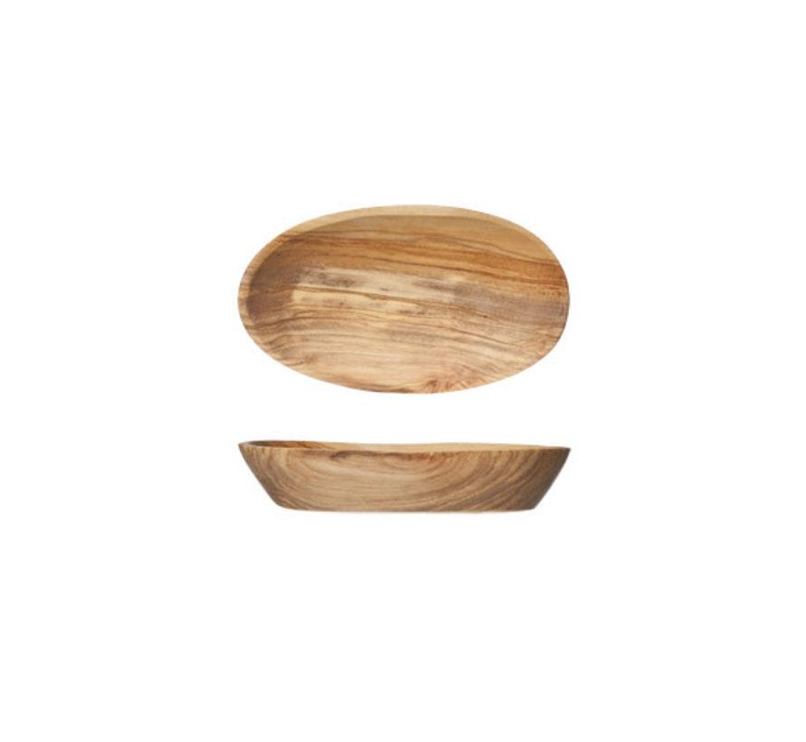 Cosy & Trendy Ovaal schaaltje 12cmx8-9cm olijfhout, 1 stuk