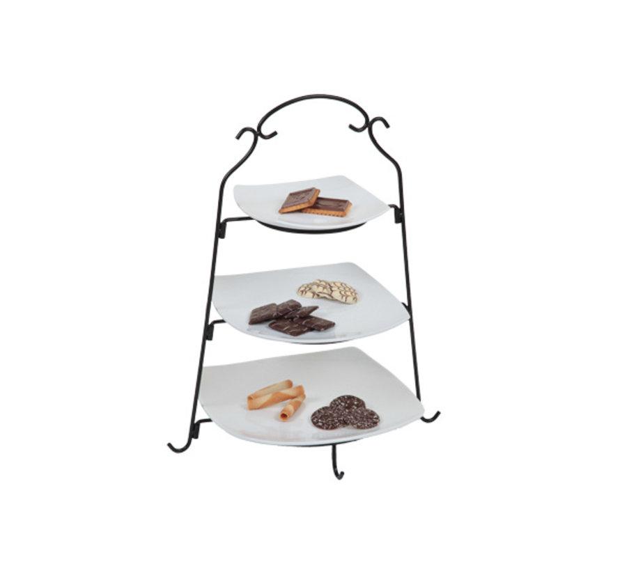 Cosy & Trendy Buffet etagere met 3 borden zwart-wit h4, 1 stuk