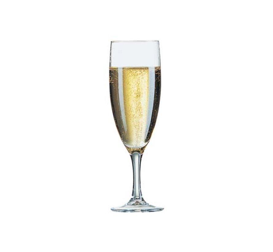 Arcoroc Elegance champagneglas 13cl *, 12 stuks