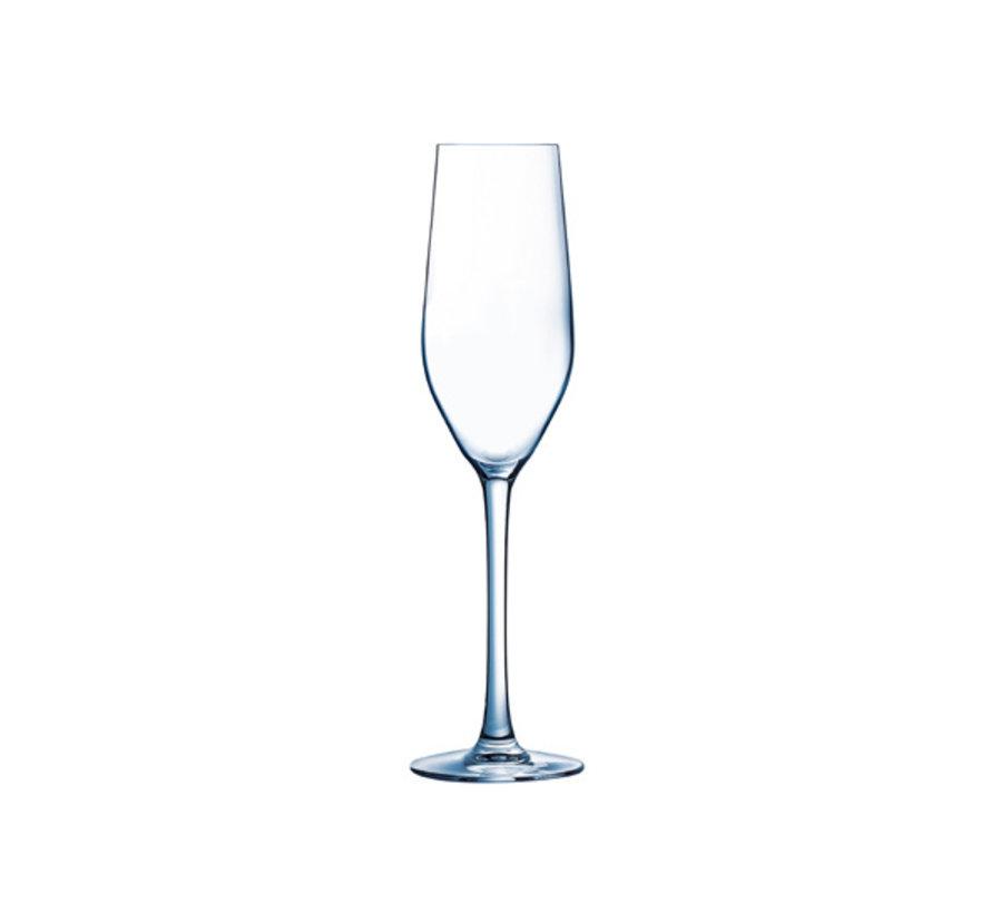 Arcoroc Mineral champagneglas 16cl***, 6 stuks