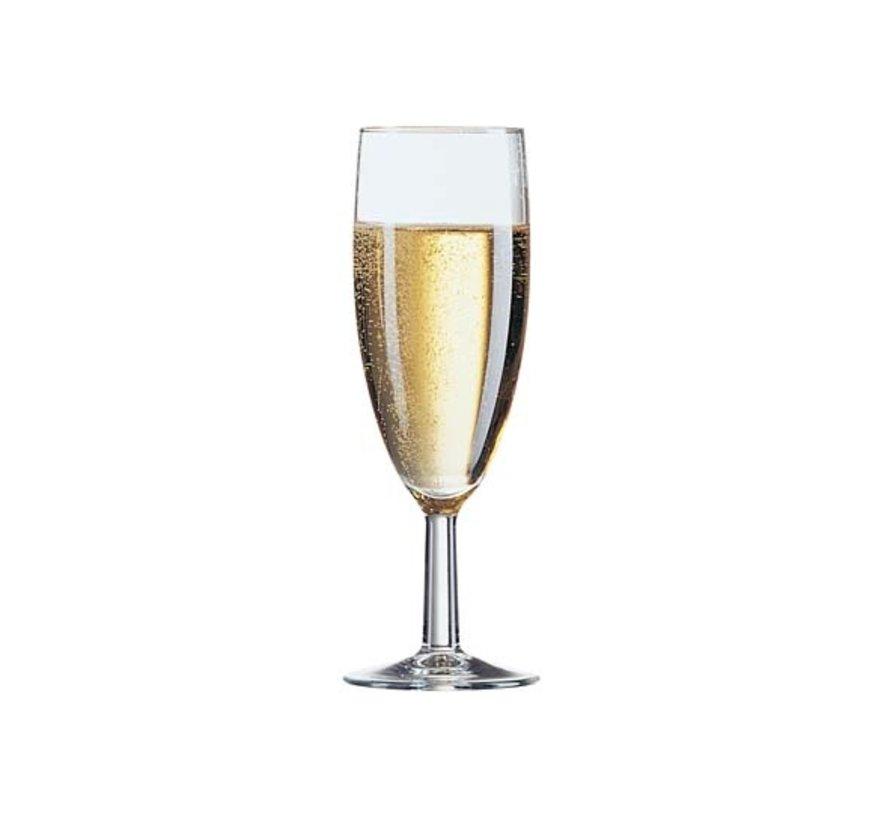 Arcoroc Savoie champagneglas 17cl**set 12, 12 stuks