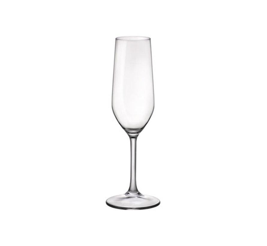 Bormioli Riserva champagneglas 20,5 cl, 6 stuks