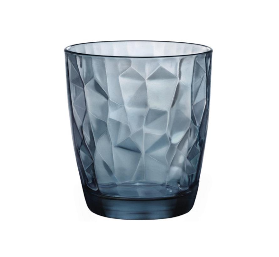 Bormioli Diamond tumbler 30cl ocean blue, 1 stuk