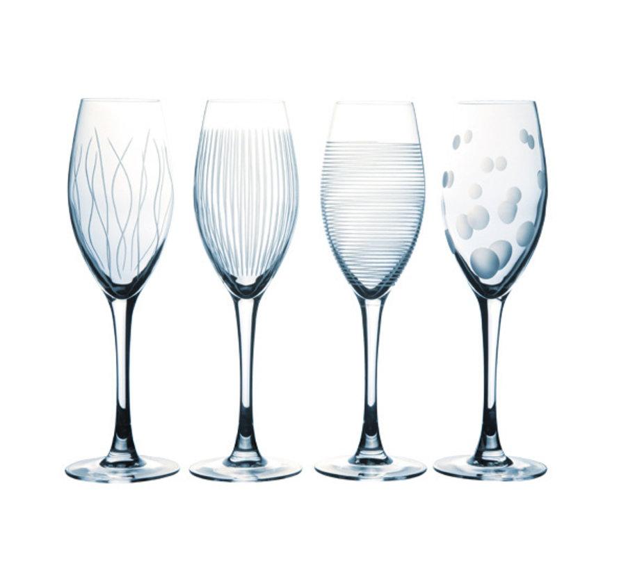 Luminarc Lounge club champagneglas 22cl, 4 stuks