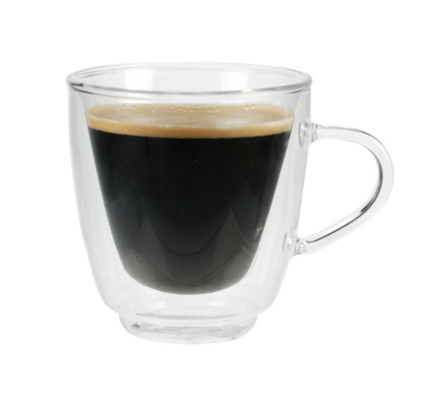 Cosy & Trendy Isolate koffieglas 16cl set 2 8,5x9cm, 2 stuks