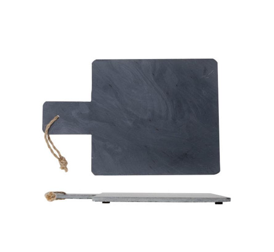 Cosy & Trendy Leisteen tray 30x20xh1cm, 1 stuk