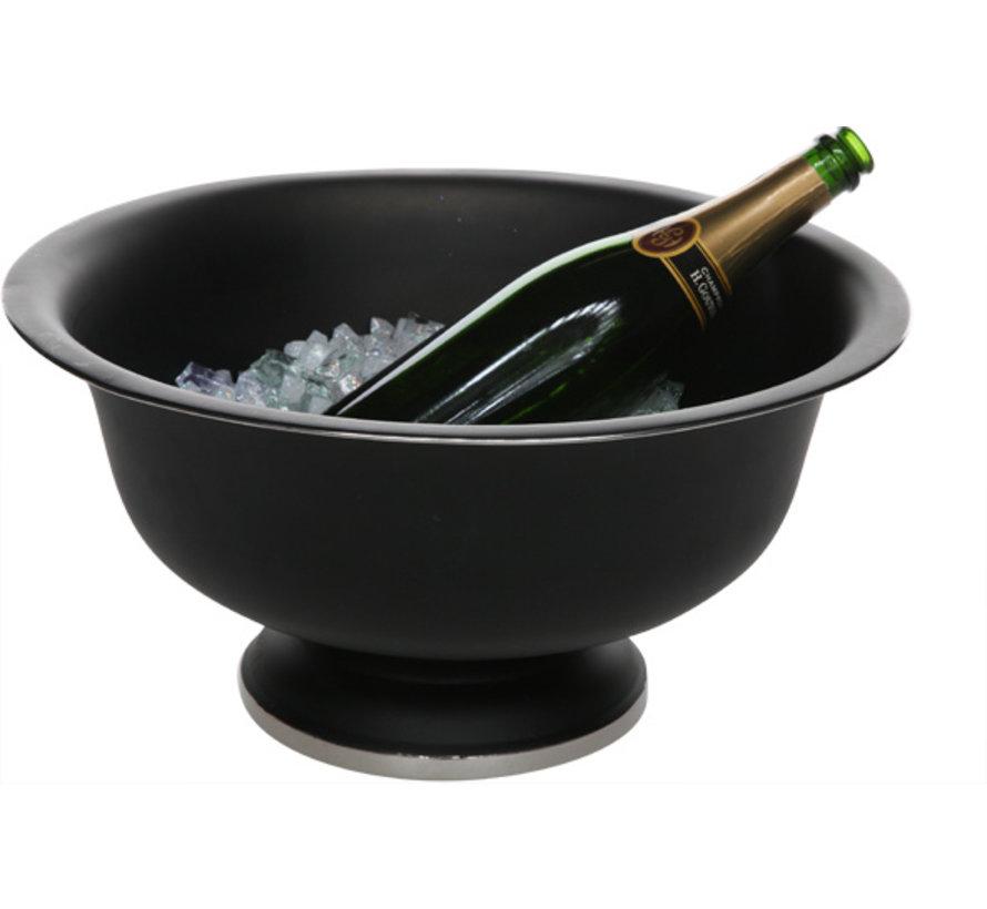 Cosy & Trendy Zwarte champagne-emmer op voet 41x20cm, 1 stuk