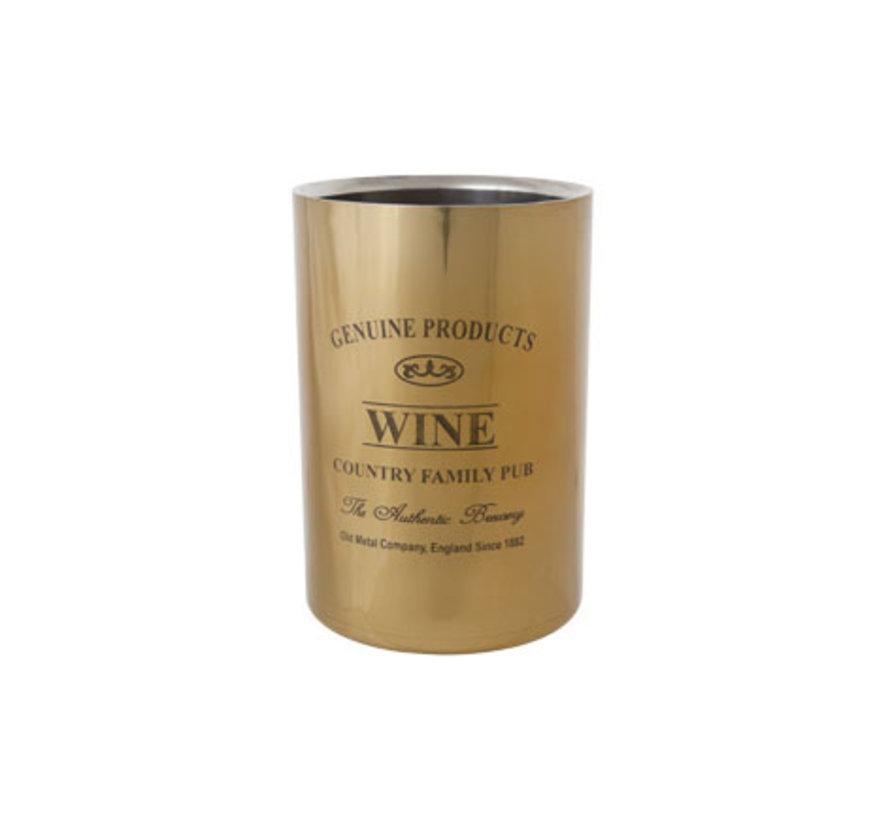 Cosy & Trendy Genuine gold wijnkoeler 12x18cm, 1 stuk