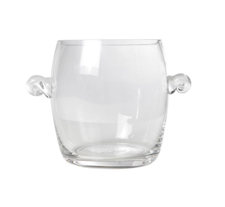 Cosy & Trendy Champagne-emmer mini glas d14xh17cm, 1 stuk
