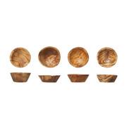 Cosy & Trendy Cosy & Trendy Kommetjes d6-7cm olijfhout, 4 stuks
