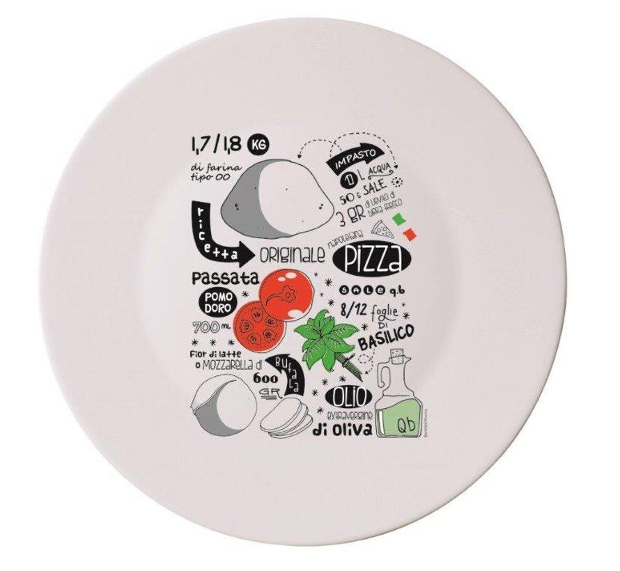 Bormioli Pizzabord recipe 33 cm, 4 stuks