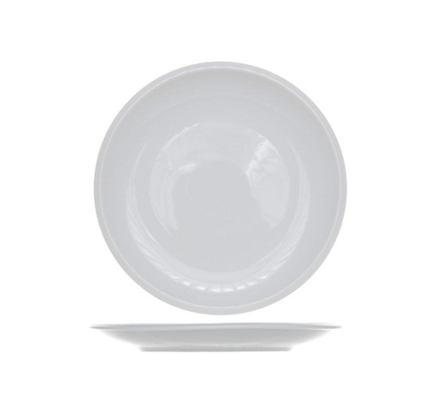 Cosy & Trendy Pleasure witte dessertbord 20cm, 6 stuks
