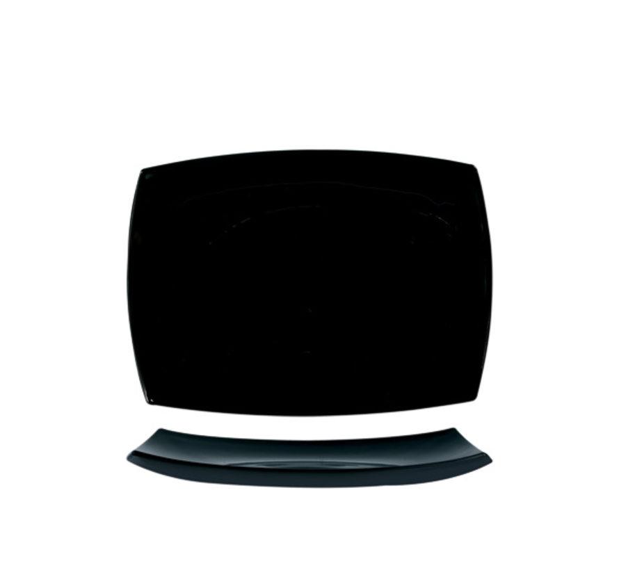 Arcoroc Delice plat bord zwart 35x26cm rh horeca, 1 stuk