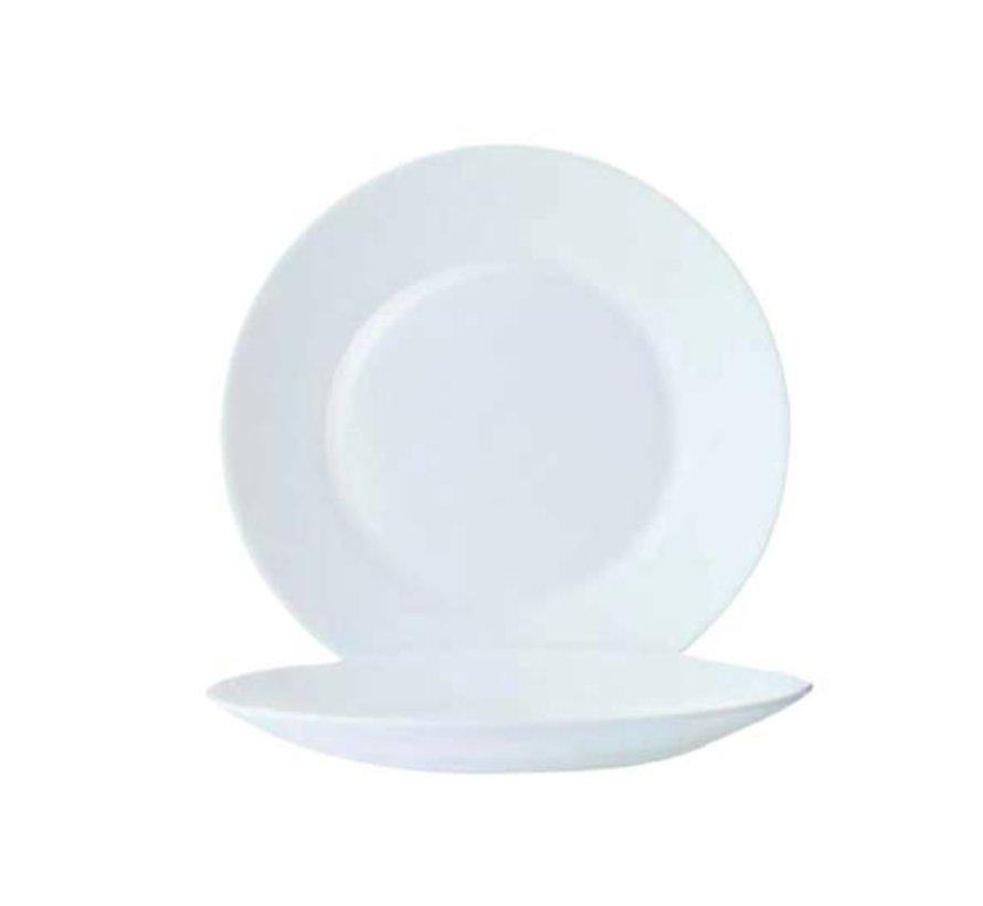 Arcoroc Restaurant uni plat bord 23,5 cm**set 6, 6 stuks