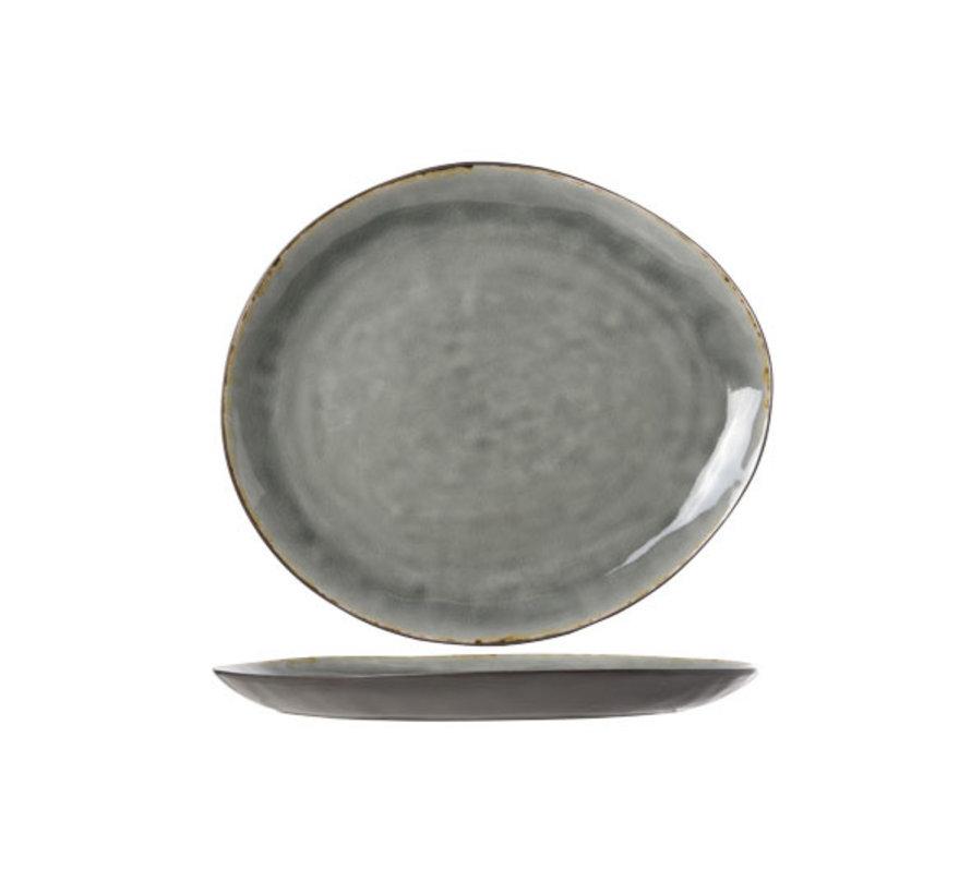 Cosy & Trendy Laguna blue-grey bord ovaal 32,5x28,5cm, 1 stuk